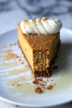 Pumpkin Ricotta Cheesecake with Brown Butter Crust and Grand Marnier Whipped Cream.