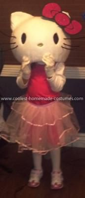 Coolest Hello Kitty Costume 6: My 3-year old wanted to be a million things this year… but the one that I thought would be awesome to do was Hello Kitty.  She was EXCITED to see the finished