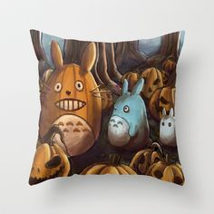 In A Pumpkin Patch Throw Pillow by Android-Sheep - $20.00