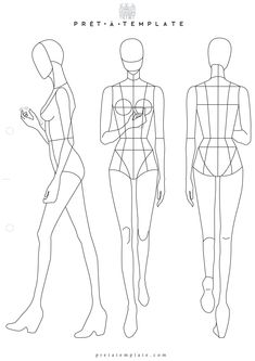 41 Best Printable Templates Fashion Figure Templates Fashion
