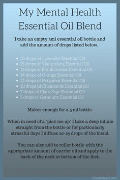 Mental-Health-Blend-Learn to Manage Panic Attacks, Anxiety, and Depression using Essential Oils!