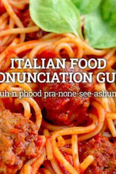 You're Pronouncing These Italian Foods Completely Wrong