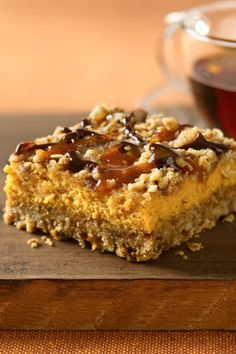 This sounds so yummy, I'm gonna have to try it! :~D Pumpkin Streusel Cheesecake Bars. Chocolate and caramel drizzles add a new flavor punch to creamy pumpkin-oat bars. Pumpkin Bars, Pumpkin Dessert, Pumpkin Spice, Pumpkin Pumpkin, Canned Pumpkin, Pumpkin Squares, Pumpkin Foods, Pumpkin Cookies, Köstliche Desserts