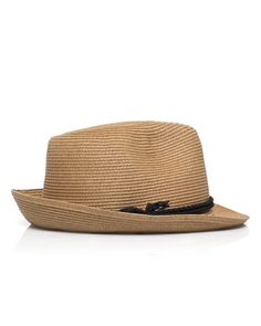 Hat Attack Fine Braid Fedora Hat from ShoeMint