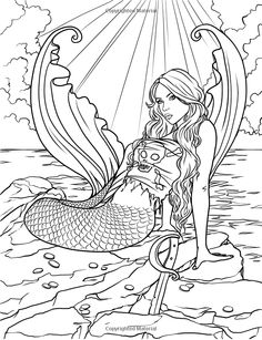 free printable coloring pages for adults mermaids 259 Best Artist Selina Fenech Coloring images | Adult coloring  free printable coloring pages for adults mermaids