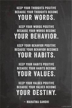 Your words Your Behaviour Your Habits Your Values Your Destiny