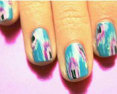 Cool Ikat print nails.