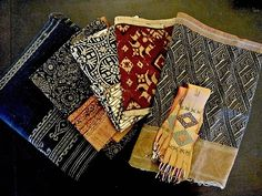 Various Indonesian textiles (and one Laotian)