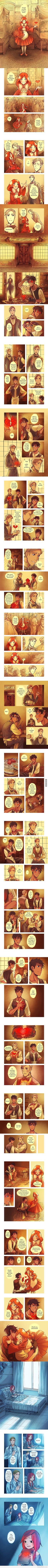 The Heartsmith comic. So cute! --> The Heartsmith looks like Percy Jackson with Leo's skin color and personality. Kind of sad when I think about it because I can see Leo doing something like this. Cute Stories, Short Stories, Beste Comics, Online Comics, Online Art, Mini Comic, Short Comics, Plot Twist, Faith In Humanity