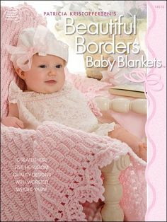 Crochet Edging And Borders Beautiful Borders Baby Blankets by Patricia Kristoffersen Crochet Pattern Booklet ASN 1451 - American School of Needlework 'Beautiful Borders Baby Blankets' Crochet Pattern Booklet Crochet Bebe, Love Crochet, Crochet For Kids, Crochet Children, Beautiful Crochet, Vintage Crochet, Crochet Flowers, Crochet Baby Blanket Beginner, Baby Knitting