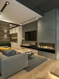 Cool And Contemporary living room tv unit modern design made easy Living Room Tv, Living Room Interior, Cozy Living, Small Living, Nordic Living, Living Room Modern, Tv Wall Ideas Living Room, Art Of Living, Interior Modern
