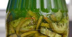 Lichior medicinal de nuci verzi | Paradis Verde Romanian Food, Celery, Pickles, Asparagus, Cucumber, Watermelon, Good Food, Food And Drink, Wine