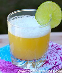Aguardiente Sour (Orange and Aguardiente Cocktail)