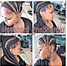 Afro-American hair braid styles of 2016 – make dimensional braids - Black Women Fashion My Hairstyle, Girl Hairstyles, Braided Hairstyles, Protective Hairstyles, Updo, Hairstyles 2018, Braided Ponytail, Protective Styles, Ghana Braids