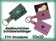 Stickmuster - Stickdatei ITH 10x10 Geldbeutelchen Rose - ein Designerstück von HEXEnART bei DaWanda