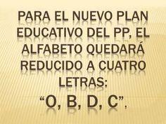 El nuevo plan educativo del PP.