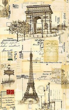 I Dream Of Paris - Tourist Ephemera - Ivory