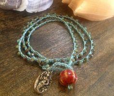 """Mermaid Coral Reef Crochet Multi Wrap Bracelet """"Beach Chic"""" $24.00"""