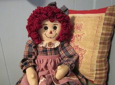 Raggedy Ann by granniesraggedybags on Etsy, $26.00