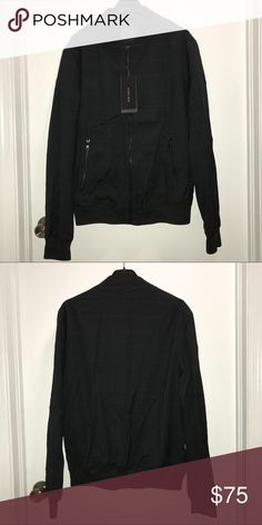 Zara Men's Bomber Jacket Zara Man  Bomber jacket sweater  Pin square lines detailing  Size Large  NWT   Check out my other items !   I ship same or next day📬   Thanks for looking ! Zara Jackets & Coats Bomber & Varsity