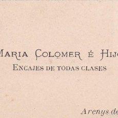Maria Colomer Encajes de todas clases Arenys de Munt Barcelona finales siglo XIX