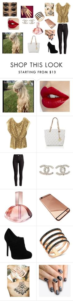 """""""club with JB"""" by makayla-cowan on Polyvore featuring Alice + Olivia, Michael Kors, Chanel, Calvin Klein, Amorium, Girl With the Temporary Tattoo, alfa.K, women's clothing, women and female"""