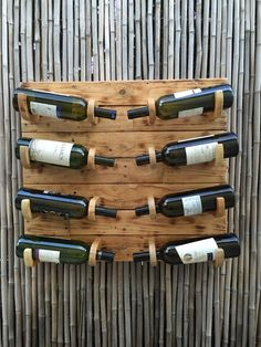 Unique Rustic Pallet Wooden 8 Bottle Wine Rack,Shabby Chic, Country Western Kitchen Decor by GreatWoodenCreations on Etsy