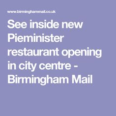 See inside new Pieminister restaurant opening in city centre - Birmingham Mail Birmingham, Centre, Restaurant, Fun, Diner Restaurant, Restaurants, Supper Club, Funny