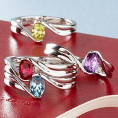 Birthstone Rings.