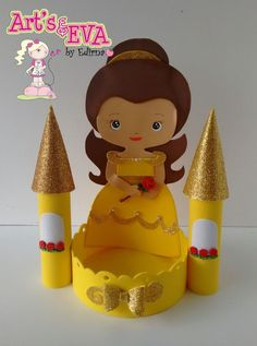 ♥ Ateliê by Edirna ♥: centro de mesa princesas em eva Foam Crafts, Diy And Crafts, Crafts For Kids, Prince Party, Beauty And The Beast Party, Disney Princess Birthday, Bday Girl, Party Centerpieces, Party Themes