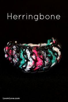 Rainbow Loom Herringbone | I wish I could do this, but it requires two looms and I only have one. :(