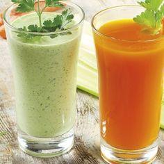 Succo di carota e sedano