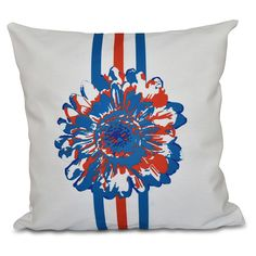 E by Design Happy Hippy Flower Child Decorative Pillow