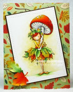 Spotlight On: September Stamp of the Month Tiny Townie Autumn loves Autumn Love Stamps, Thanksgiving Cards, Fall Cards, Copics, Copic Markers, Crafty Projects, Applique Designs, Fall Halloween, Painted Rocks