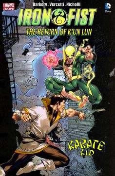 Iron Fist (Daniel Thomas Rand-K'ai) has a visitor, the Karate Kid ( Val Armorr) from the future sent to prevent the total destruction of the Hand. It's important that they survive. It's important to his very existence. Ok let's make this reality. Vic Stone, Dc Comics Collection, Comic Art, Comic Books, Iron Fist, Marvel Dc Comics, Dark Horse, Comic Covers, School Fun