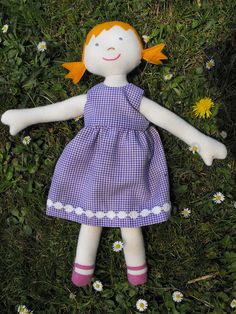 Tess' Kinder Doll - purple dress by Liam's Mummy, via Flickr
