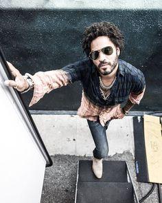 Lenny Kravitz - Lenny Kravitz Seen On Set In Saint Laurent Ombre Shirt Hard Rock, Roxie Roker, Folk Rock, Lee Daniels, Ombre Shirt, Fox Studios, Lenny Kravitz, American Singers, Record Producer