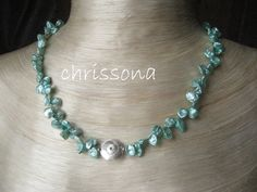 Perlenkette Sterling Silber Linse von chrissona auf DaWanda.com