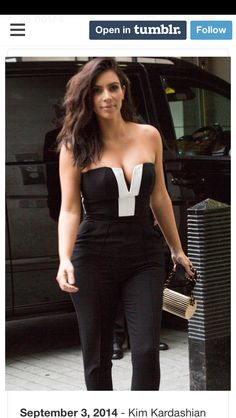 Kim Kardashian Flaunts Curves in a Sexy Jumpsuit Kim Kardashian And Kanye, Kardashian Jenner, Celebrity Pictures, Celebrity Style, Celebs, Celebrities, Fashion Wear, Dress Me Up, Her Style