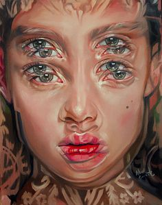 Gorgeously Surreal Portraits Painted by Alex Garant to Resemble Double Vision Alex Grant, Modern Surrealism, Surrealism Drawing, Surreal Art, Surreal Portraits, Double Vision, A Level Art, Wow Art, Gcse Art