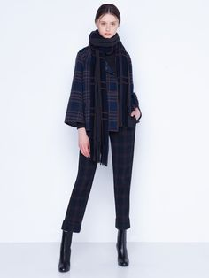 Knit Cashmere Silk Scarf with Fringes Silk Taffeta, Silk Crepe, Fringes, Parka, Cashmere, Scarves, Normcore, Plaid, Pullover