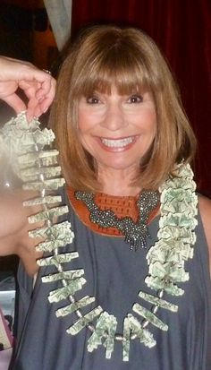65 dollar bills for a 65th birthday!