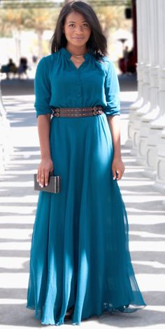 Empress Maxi Dress - I must have this one! Modest Dresses, Modest Outfits, Modest Fashion, Cute Dresses, Beautiful Dresses, Jw Fashion, Maxi Dresses, Lady Like, Pretty Outfits