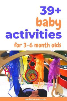 Baby Sensory Ideas 3 Months, 5 Month Old Baby Activities, Infant Sensory Activities, Baby Sensory Play, Baby Play, Physical Activities, Diy Baby Toys 6 Months, 9 Month Old Baby, 3 Month Old Toys