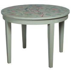 Sure to have a happy breakfast with this table. Song Birds Painted Breakfast Table - manor sage finish