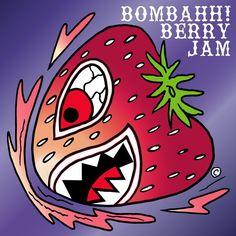 Bombing Berry Jam!!! #art #arte #illustration #cartoons #sharpies #handcrafted #design #mashup #strawberry #freshfruit #fruit #flying #tiger #atx #lbc #la #fashion #nylon #gaming #streetart #streetwear #agenda #colorful #vivalavida