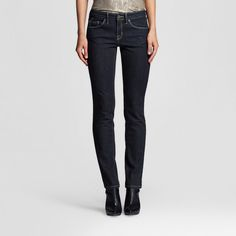 Women's Mid-rise Straight Leg Jeans (Modern Fit) Dark Wash