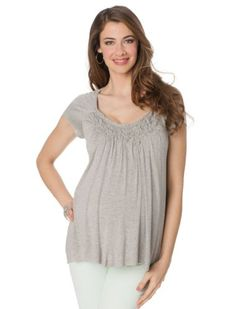 A Pea in the Pod Collection: Bailey 44 Short Sleeve Scoop Neck A-line Maternity T Shirt