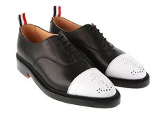 THOM BROWNE TWO-TONE OXFORD SHOES