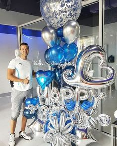 65 Ideas birthday decorations man for men Happy Birthday Decor, Birthday Decorations For Men, Balloon Decorations Party, Balloon Centerpieces, Man Birthday, Wedding Balloons, Birthday Balloons, Balloon Clusters, Deco Ballon